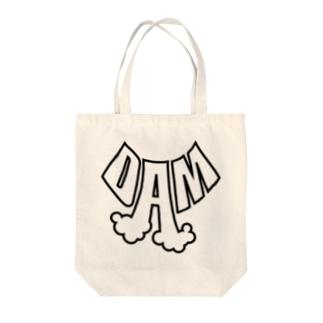 DAM(黒太フチ) トートバッグ