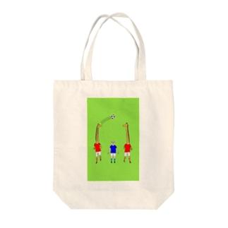 キリンのパス Tote bags