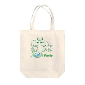 ツインズ(プードル)ロゴ入り Tote bags