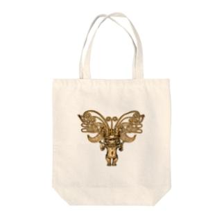 METのゴールドペンダント1 Tote bags