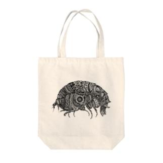 横蝦 Tote bags