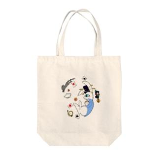 3月ウサギ Tote bags