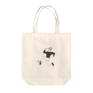走る人 Tote bags