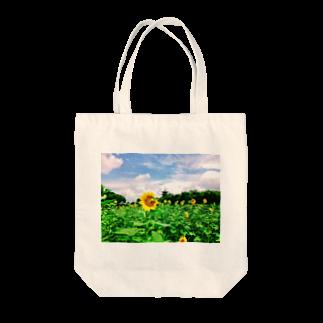 Una Villa Shopのひまわり畑と五重塔1 Tote bags
