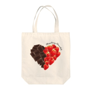 strawberry chocolate Tote bags