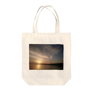 Wort_colonの夕焼け 海 Tote bags