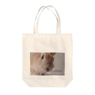 のぞき込みちぃちゃん Tote bags