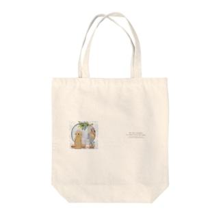 笑顔でおはよう Tote bags