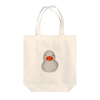 すいすいアヒルちゃん(白) Tote bags