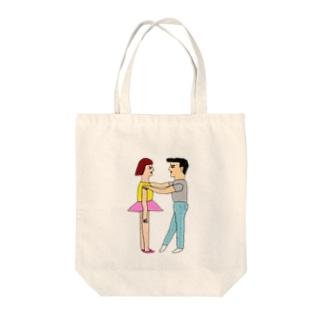 digital love Tote bags