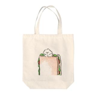 マルチーズサンド Tote bags