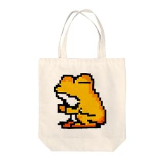 カエルのぺしゃんこ(中) Tote bags