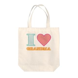 I LOVE GRANDMA Tote bags