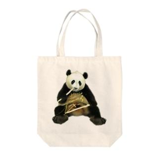 少女子パンダ Tote bags