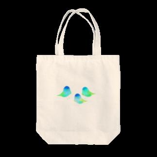 なきむしいもむしの青い鳥 Tote bags