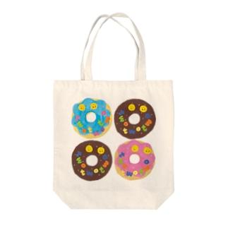 ドーナツ4つ Tote bags
