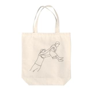 shinneくん(白塗りver) Tote bags