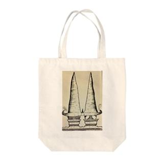 とんがり Tote bags