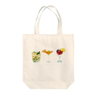 トリオ・ザ・カクテル Tote bags
