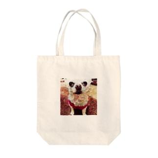 絵画風わんちゃん Tote bags