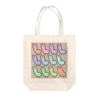 アルパカぱかぱかちょっとオカピ Tote bags