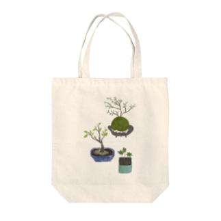 ボタニカル 鉢植えと苔玉 トートバッグ