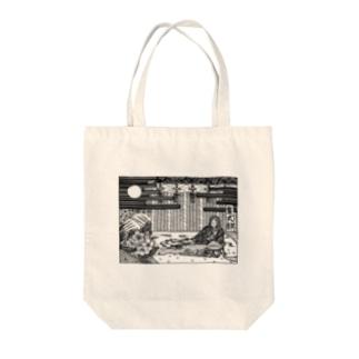 紫式部 Tote bags