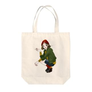 喫煙者の女の子 Tote bags