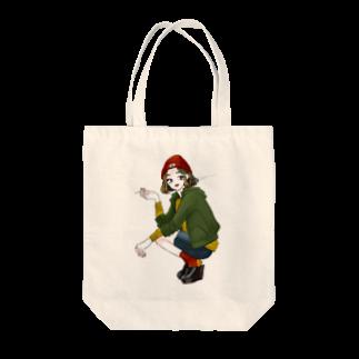 ぷくぷくマーケットの喫煙者の女の子 Tote bags