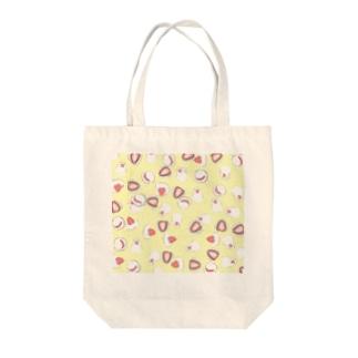 とりもち(文鳥といちご大福) Tote bags