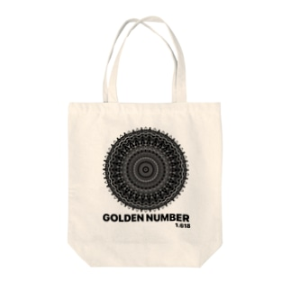 GOLDEN NUMBER Tote bags