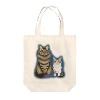 ラルフとフラン Tote bags