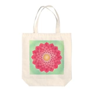 花曼荼羅アート Tote bags