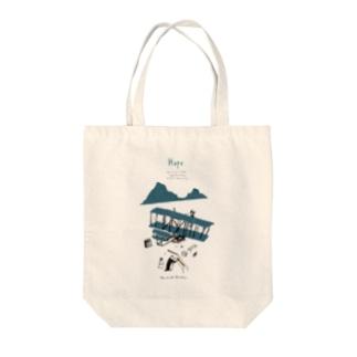 北極ライト兄弟 Tote bags