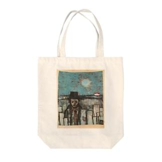 machi_wo_deru_hito Tote bags