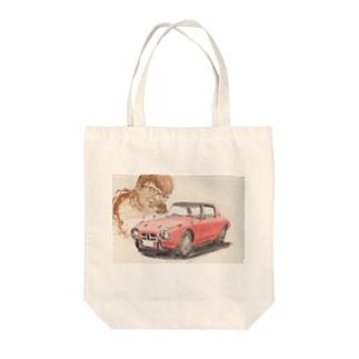トヨタ800ヨタハチと浮谷東次郎 Tote bags