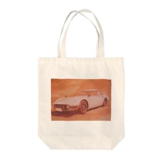 トヨタ2000GT。芸術作品。 Tote bags