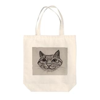 俺は猫さま Tote bags