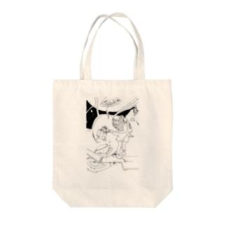 宇宙ネコ Tote bags