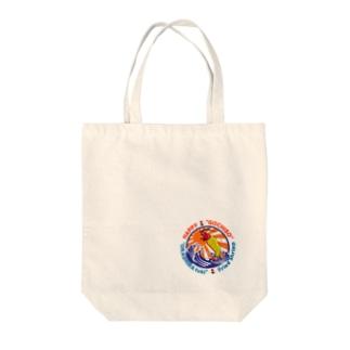 懐かしの海を満喫する生きのいいエビフライ Tote bags