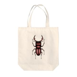 ノコギリクワガタ Tote bags