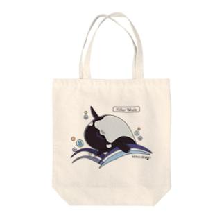シャチ_海洋生物(うみのいきもの) トートバッグ