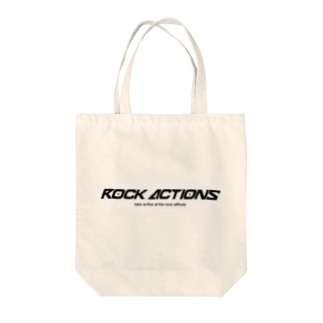 ROCK ACTIONS logo series 1 Tote bags