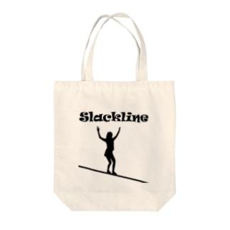 スラックライン(ウォーク) Tote bags