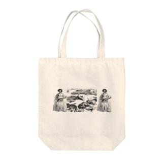 オーストラリアのサンゴ礁と女、と男 Tote bags
