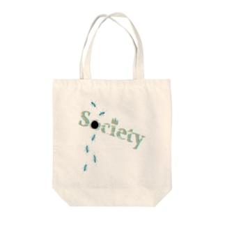 「社会の穴」 Tote bags