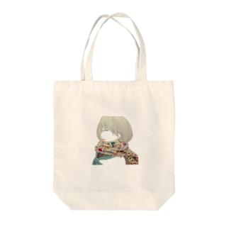 マフラー少女 Tote bags