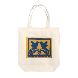 切り絵の鳥 Tote bags