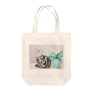 ポアロと植え木鉢 Tote bags