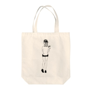 baseball girl Tote bags